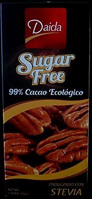 Stevia-Sweetened Chocolate Bar - 99% Cocoa, Sugar-Free