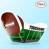 Football Super Bowl Party Paper Bowl - The large Capacity for Tailgate Parties, Super Bowl, Birthday Party Family Dinner and Sports Event (10 Pack)