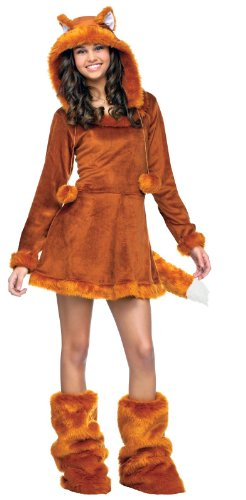 Fun World Sweet Fox Teen Costume, Tan, One Size (Fox Costume For Teens)