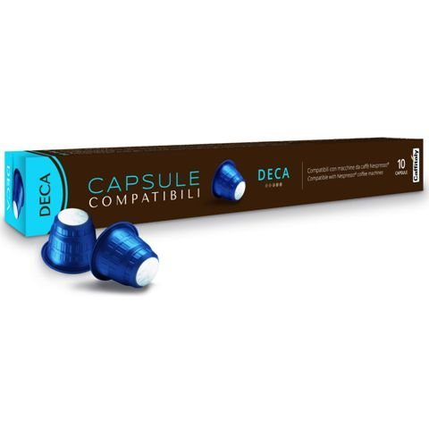 Nespresso Compatible Decaffeinated Premium Pods by Caffitaly (1 Pack of 10) BLCI025