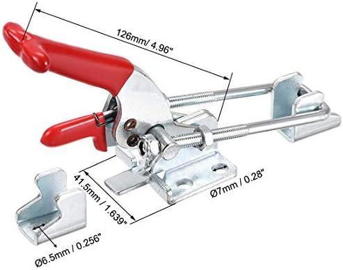 uxcell 調節可能なラッチ セルフロックトグルクランプ Uボルト 亜鉛メッキ鉄 126 mm x 41.5 mm 771ポンド、1個