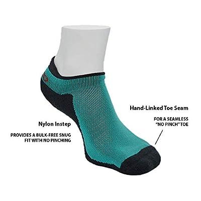 Men's Athletic Blister Free Socks  No Smell Silver Fiber   Teal & Black at  Men's Clothing store