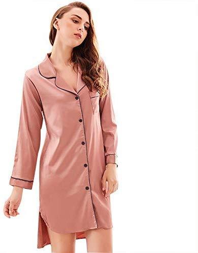 NO BRAND Albornoz Pijamas simulación Larga sección de Mujeres del ...