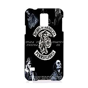 Samsung Galaxy S5 I9600 Case Sons of Anarchy 3D ( SOA ) Retro Pattern Hard Plastic Cover