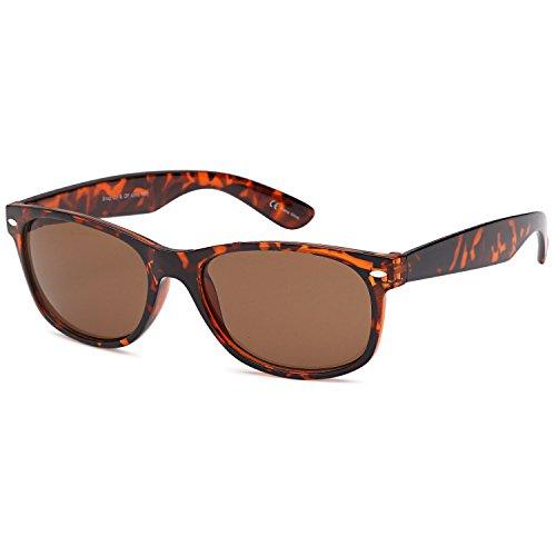 GAMMA RAY UV400 Classic Style Sunglasses - Brown Lens on Tortoise - Sunglasses Sunglasses Under