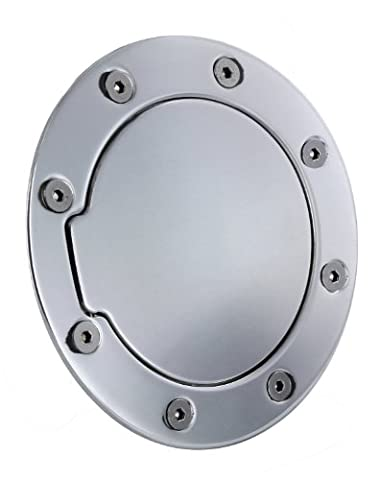 All Sales 6055P Polished Billet Aluminum Fuel Door (Ford Mustang 2009 Tank Cover)