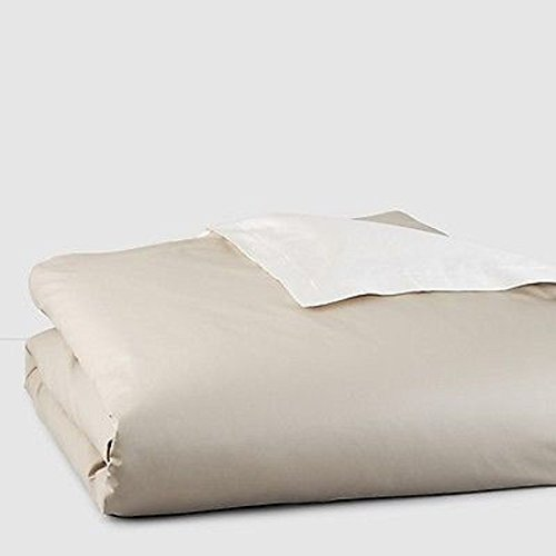 Hudson Park 800TC Driftwood/Ivory King Duvet Cover Bedding $400