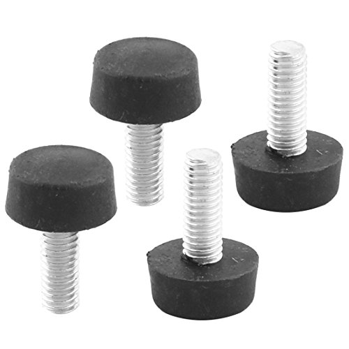 uxcell Threaded Stem Furniture Leveling Foot Adjuster 6mm x 15mm x 20mm 4 Pcs