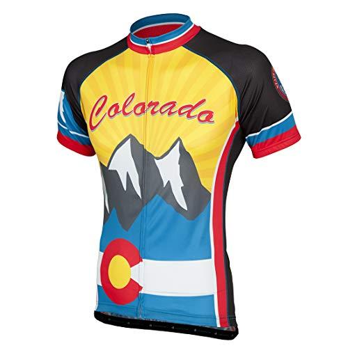 Colorado Cycling Jersey - Peak 1 Sports Colorado Men's Cycling Jersey 2XL - Men's Yellow