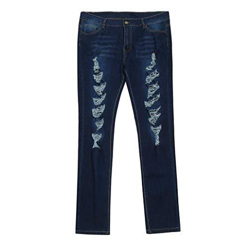 Y 2 Azul Fuxitoggo Tamaño Vaqueros De large Elásticas color Delgadas Alta Cintura Para Tallas Extragrandes Xx Mujer Desgastadas Oq1O06Hw