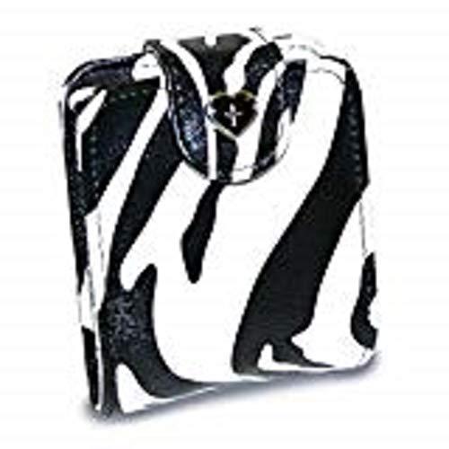 Zebra Print Cross - Divinity Lipstick Case Zebra Print with Mirror and Cross Motif