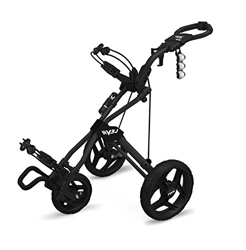 Clicgear Rovic Model RV3J Junior | Youth 3-Wheel Golf Push Cart (Black)