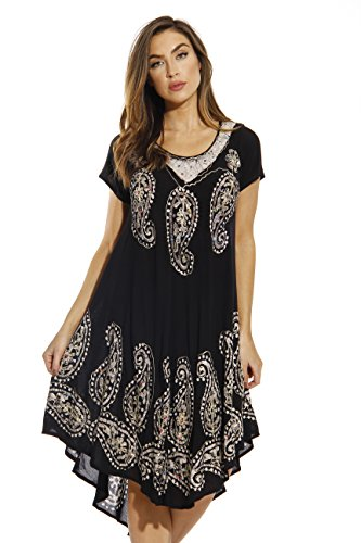 Riviera Sun 20469-NEW-BW-3X Dress/Dresses for Women Black/White
