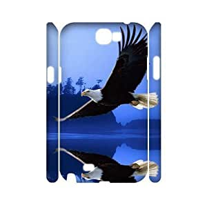Bald Eagle DIY 3D Cover Case for Samsung Galaxy Note 2 N7100,personalized phone case ygtg579480