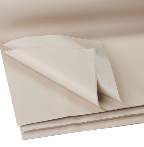 "Jillson Roberts Bulk 480-Sheet Count 20"" x 30"" Recycled Tissue Paper Available in 30 Colors, Natural"