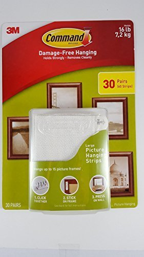 Command Damage Free Picture and Frame Hanging, Large Strips 90 PAIRS