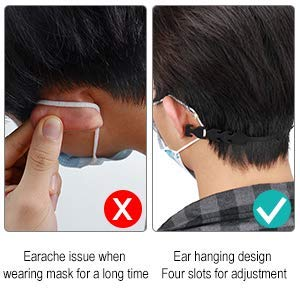 labato Mask Extension Hook Anti-Slip Mask Extender Strap Hooks Adjustable Ear Hook Mask Comfortable