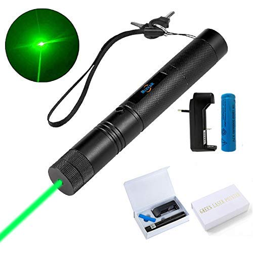 (6 Patterns Hunting Rifle Scope Sight Laser Pen Green Laser Pointer High Power,Remote Laser Pointer Travel Outdoor Tactical Flashlights, LED Interactive Baton Funny Laser Pointer Toys for Cats/Dogs)