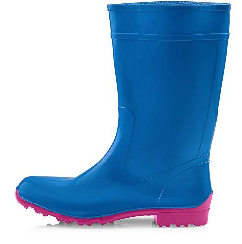 Ladeheid LA Rubbystiefel für Pink 967 Damen Blau Ilse rIr8qR