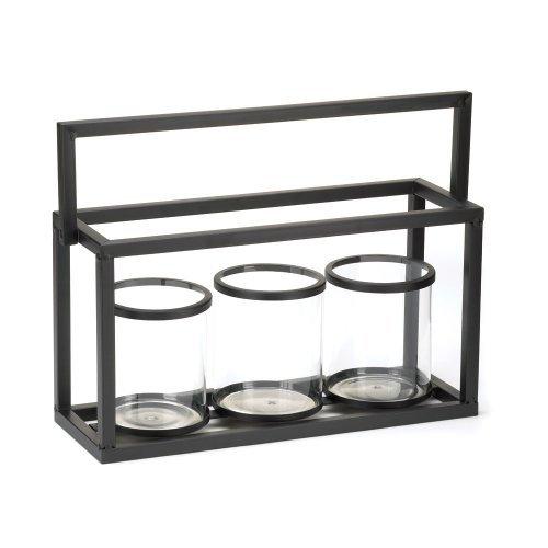 Glass Jar Candleholder Trio