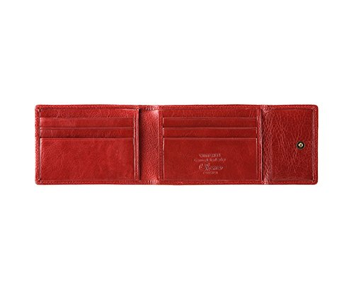 WITTCHEN caso, Rosso, Dimensione: 11.5x8 cm - Materiale: Pelle di grano - 22-2-011-3