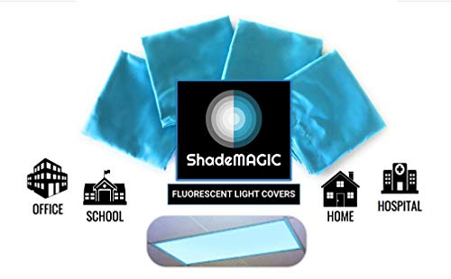 ShadeMAGIC Fluorescent Light Covers for Classroom or Office - Light Filter pack of (4); Eliminate Harsh Glare that causing Eyestrain and Head Strain. Office & Classroom Decorations. Light Diffusers ()