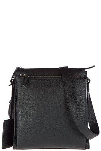 Fendi men's leather cross-body messenger shoulder bag black