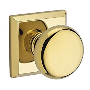 Baldwin HDROUTSR003 Reserve Half Dummy Round with Traditional Square Rose in Lifetime Brass Finish