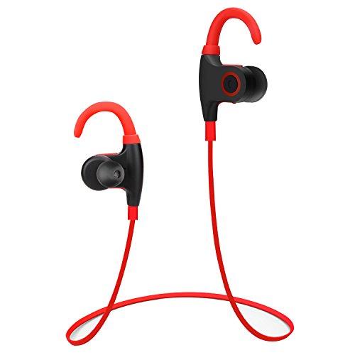 debeite bluetooth headphones v4 1 wireless sweatproof headset noise cancelling in ear earbud. Black Bedroom Furniture Sets. Home Design Ideas
