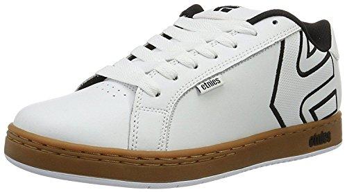 Etnies Fader White Gum Heren Leren Skate Trainers Schoenen