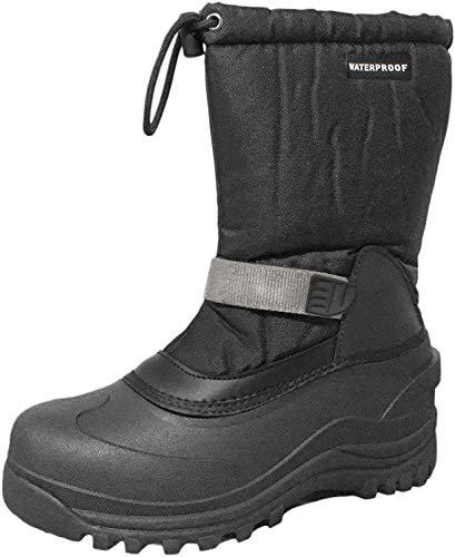 Details zu Polaris Men's Insulated Snow Boots Black