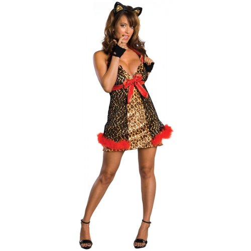 Secret Wishes Women's Enchanted Creature Adult Alley Cat Costume, Multicolor, Medium (Enchanted Wishes Costume)