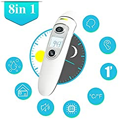 Baby Thermometer - Ear and Forehead, Digital Infrared Temporal Thermometer for Fever, Instant Accurate Reading for Baby Kids and Adults