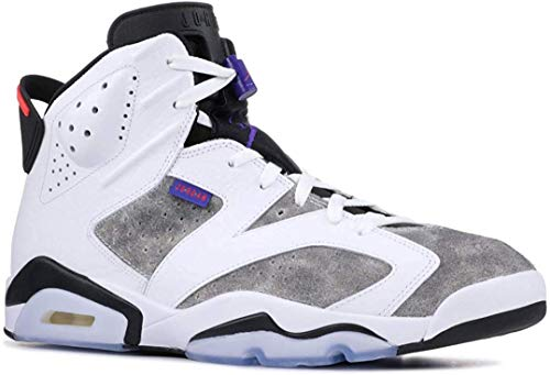 S1ZID00KXC AIR J0RDAN Mens 6 Retro Leather Basketball Shoes White/Dark Concord/Black/Infrared 23 CI3125 -Size 8.5 (Jordan Retro Infrared 23)