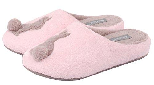 Pantofole Da Casa Morbide Pantofole Da Bagno In Cotone Blubi Da Donna Rosa