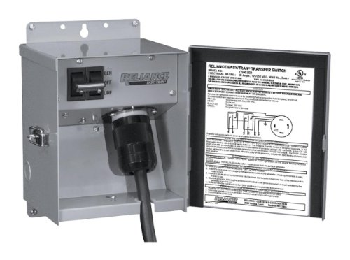 - Reliance Controls Corporation CSR202 Easy/Tran Transfer Switch for Generators Up to 5,000 Watts