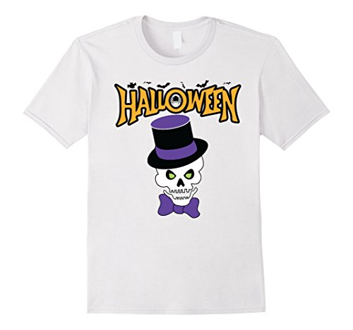Mens Creepy Dabbing Skeleton Funny Halloween Costume T-Shirt Large (All White Costume Contact Lenses)