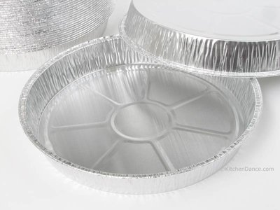 Disposable Aluminum 8  inch Round Cake Pan #8880 by D & W Finepack (100)