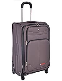 "Swiss Travel Products Charcoal 24"" Upright Rolling Suitcase"