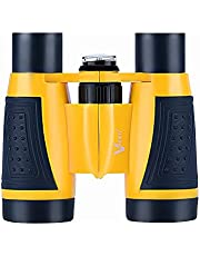 Vanstarry Compact Binoculars for Kids Bird Watching Hiking Camping Fishing Accessories Gear Essentials Best Toy Gifts for Boys Girls Children Toddler Waterproof 5X30 Optical Lens Including Compass