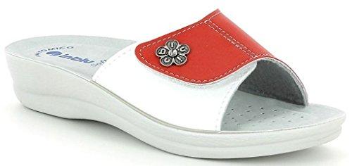 INBLU , Chaussons pour femme rouge Corail 39 EU