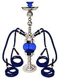 32'' 3 Hose Rotating Queen Rotator Hookah Silver Pearl