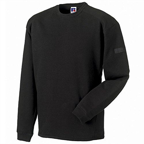 Russell Europe Heavy Duty Crew Neck Sweatshirt - Black - 3XL