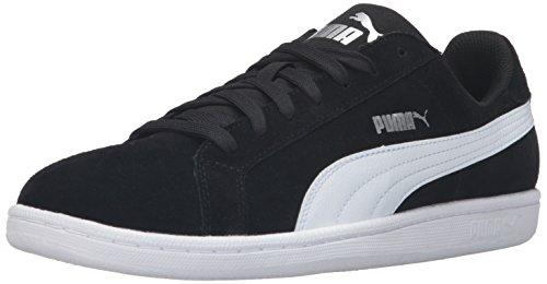 (PUMA Men's Smash SD Fashion Sneaker, Black White, 10 M US )