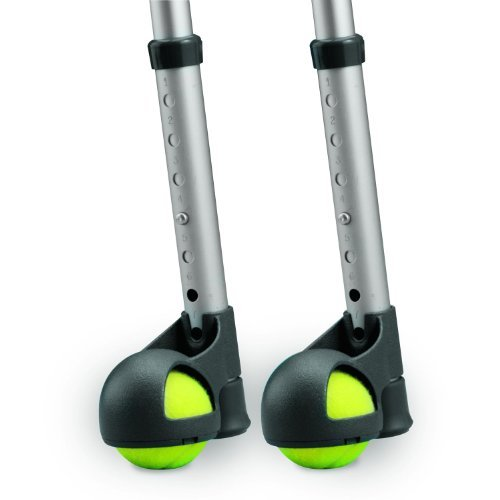 Court-Side Glide Glides, Gray/Yellow (Pack of 2) by Invacare