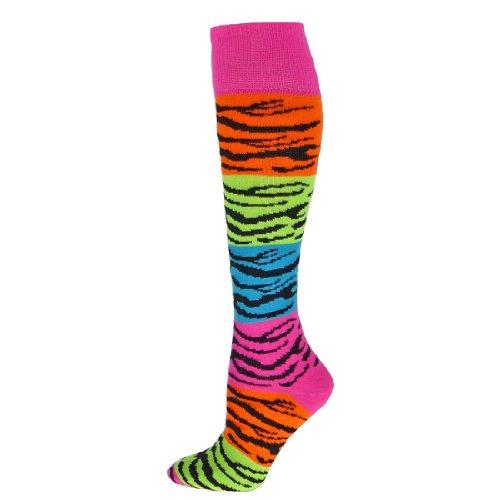 Red Lion Rainbow Tiger Knee High Athletic Sport Socks