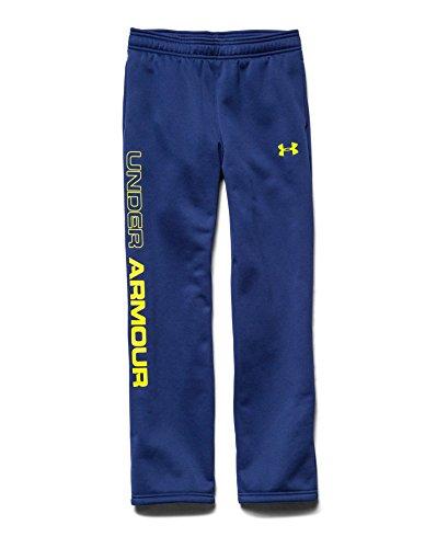 Under Armour Big Boys' UA Storm Armour® Fleece Script Pants Youth Medium AMERICAN BLUE