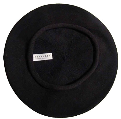 Parkhurst 11 1/2 Inch Cotton Beret Black