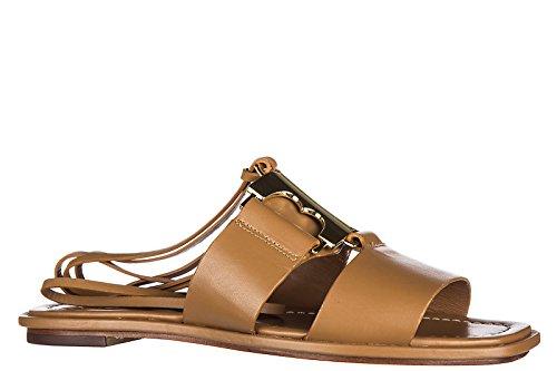 Tory Burch sandales femme en cuir gemini link marron