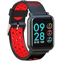 Leotec LESW14DR Multisport Helse-Smartwatch, Color Rojo